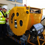 UMS and CableFish Carriage being inspected prior to operation