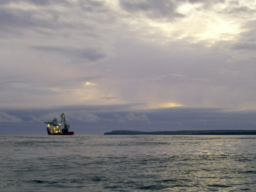 DataFish Cam captures Siem Daya at work in Pentland Firth
