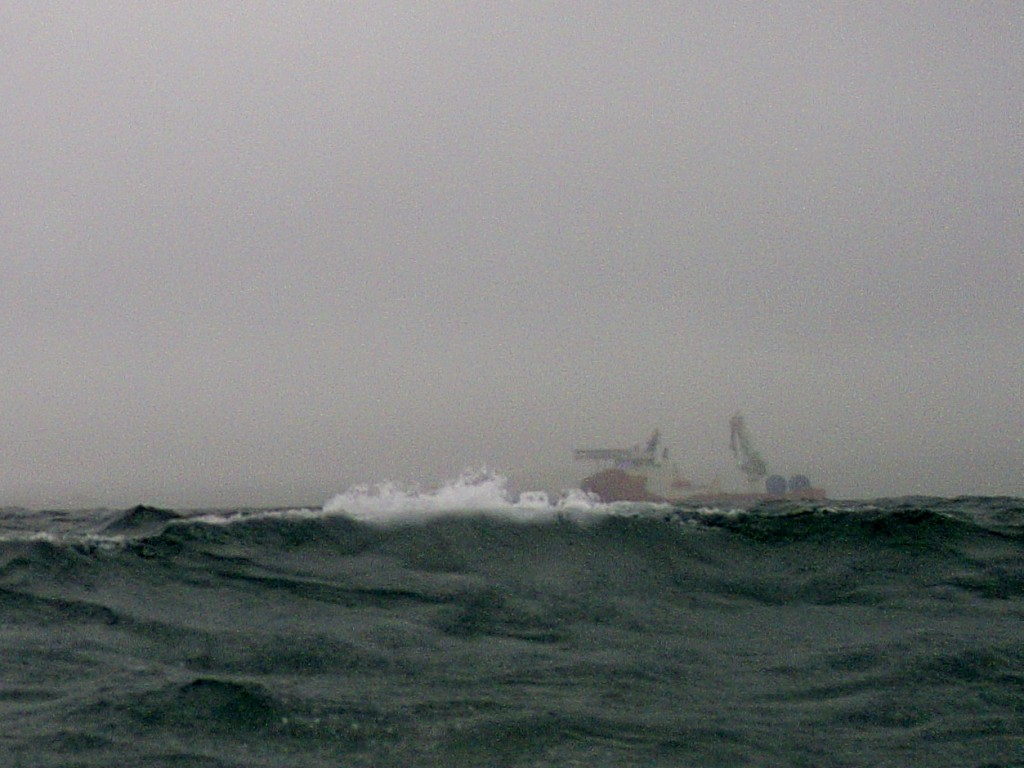 Cable laying ops continued through some blustery storms.  DataFish doesn't miss a beat.